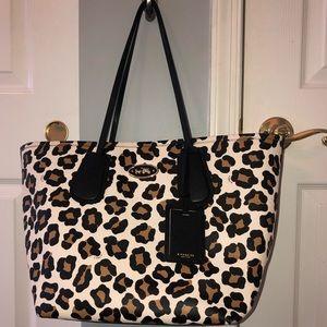 Coach cheetah print tote